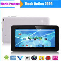 "Wholesale Blue Action Bluetooth - 9"" A33 Quad Core Tablet PC Actions 7029 Android 4.4 KitKat 1.3GHz 512M 8GB Capacitive Touch Screen Dual Camera Bluetooth HDMI 6 Colors"