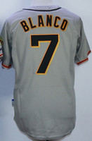 Wholesale Giant Blanco Jersey - 2015 NEW Giants 7 Blanco Grey Stitched Baseball JerseyS,Wholesale Discount Cheap Sports Athletic Outdoors 28 Posey 25 Bonds Baseball Wear