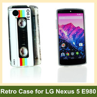 Wholesale Google Nexus Case Flowers - Wholesale Retro Cassette Tape Radio Camera Garden Flower Leopard Zebra Pattern Soft TPU Gel Case for LG Google Nexus 5 E980 Free Shipping