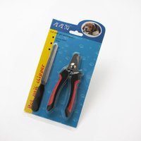 Wholesale Wholesale For Nails Products - Wholesale-Pet Dog Animal Nail Scissors Clippers Paw Nail Files Grooming Safety Cutter Tool for