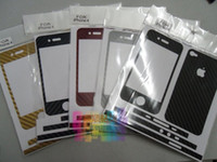 iphone için dekal cilt toptan satış-50 adet / grup * Yılan derisi desen Prim Karbon Fiber Fiber Stil Vinil Çıkartması Cilt Seti Iphone 6 artı 6 5 s 4 s 5 4