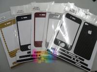 decalque para iphone venda por atacado-50 pçs / lote * Padrão de Pele De Serpente de Fibra De Carbono Premium Estilo Vinyl Decal Skin Kit Para Iphone 6 plus 6 5S 4S 5 4