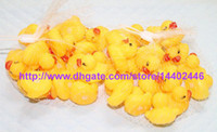 Wholesale Baby S Toys New - 600pcs Free Shipping New Baby Bath Water Toy toys Sounds Yellow Rubber Ducks Kids Bathe Children Swiming Beach Duck Ducks Gifts
