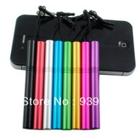 Wholesale Iphone 2g Stylus Pen - Wholesale-Wholesale 10 Colors Available Metal Capacitive Touch stylus Pen for iPhone 4 4G 4S 2G 3GS tablet pc,etc