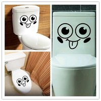 ingrosso adesivi da bagno-Adesivi viso sorridente carino Adesivi igienici bagno impermeabile Adesivi Closestool