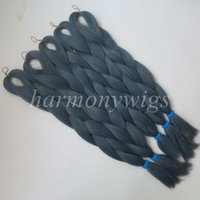 Wholesale blue xpression braiding hair for sale - Group buy Kanekalon Jumbo braiding hair inch Folded grams Solid DENIM BLUE Color Xpression Synthetic braids hair Extension T4220 in stock