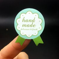 """Wholesale green handmade paper - Green medal design handmade Adhesive Seal Sticker for baking Gift Label Stickers 1200PCS 28*35mm ( 1.1""""x1.38"""" )"""