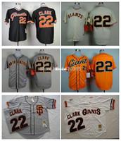 Wholesale Low Price Throwback Jerseys - 30 Teams- Best Seller Low Price Throwback Baseball Jerseys San Francisco Giants Jerseys #22 Will Clark Jerseys Stiched Logo SF Giants Base