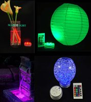 Wholesale Wholesale Candle Jars Free Shipping - Free Shipping 4pcs RGB Multi colors Remote control 16colors Submersible LED light waterproof,LED vases base light,colorful underwater light