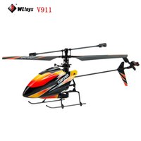 Wholesale Mini V911 Upgrades - Upgrade Wltoys V911 RC Helicopter 4ch 2.4G Single Blade mini remote control helicopter Orange professional drones 14003380