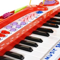 Wholesale Kids Piano Microphone - Baoli 37 Keys Electronic Keyboard Piano w  Microphone Musical Instruments Gift educational toy for Kids baby