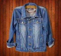 Wholesale Mascot Blue Shirt - 2015 Regular Real Jackets Men Jacket Casual Jacket Man Denim Male Counter Genuine Korean Tidal Cowboy Shirt Slim Mascot Shipping