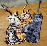 Wholesale Korean Cat Bag - 30PCS 2016 cat style mini bag Creative 3D Paintings Doge Coin Purse Harajuku Style Wallet Hand Bags face purse dog face purse BFH713