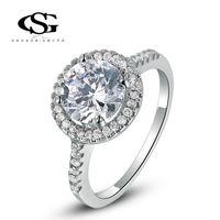 Wholesale Platinum Women S Wedding Band - 015 G&S 2015 New Fashion Jewelry Platinum Plated Elegant Ring Best Girlfriend For Women Party Wedding