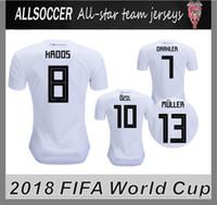 Wholesale Cups Mats - 2018 world cup JERSEYS Football jerseys Mats Hummels Leon Goretzka Julian Draxler Thomas Muller Toni Kroos Mesut Ozil Timo Werner