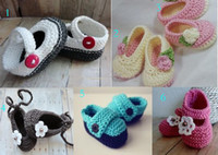 Wholesale Cheap Kids Shoes China - 10%off!6 STYLES!GIRL Square mouth baby shoes!crochet baby toddler shoes,ballet girl shoes,knitted kids cheap shoes,china shoes