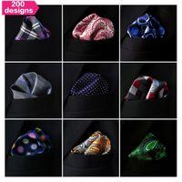 Wholesale Wholesale Ties Hankies - Wholesale Assorted Mens Pocket Squares Hankies Hanky Handkerchief Large Size Accessory Free Shipping Neckties Ties