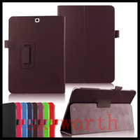 Wholesale Covers For Galaxy S2 - Folio Flip Leather Case for Samsung Galaxy Tab A E S S2 4 3 8.0 7.0 T350 T580 T377 10.1