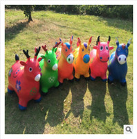 Wholesale Inflatable Ride Animals - 2015 high quality Fashion Children cartoon Jumping Animal Riding Toy Thicken Explosion-proof Inflatable Child Baby Ride-Ons 458