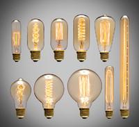 bombillas antiguas de edison al por mayor-40 W Bombillas de Filamento Vintage Retro Estilo Industrial lámpara edison E27 Bombillas antiguas Moda Incandescentes lámparas 110 V 220 V