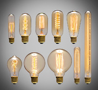 filament ampuller toptan satış-40 W Filament Ampuller Vintage Retro Endüstriyel Stil edison Lambası E27 Antika ampuller Moda Akkor lambalar 110 V 220 V