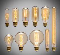 Wholesale Edison Style Lighting - 40W Filament Light Bulbs Vintage Retro Industrial Style edison Lamp E27 Antique bulbs Fashion Incandescent lamps 110V 220V