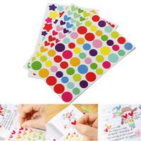 adesivos de planejador venda por atacado-Chegam novas 6 pçs / lote 6 Folha Colorido Rainbow Sticker Diário Planejador Diário Scrapbook Álbuns Foto DIY Decor Decal Adesivos