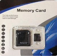 Wholesale Cell Phone Memory Card Adapter - 100% Real 4GB Micro SD Card Full 4GB Memory Card TF Card Enough 4GB with Adapter + retail package for Cell Phone MP3 4 5 Tablet PC 5pcs lot