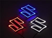 hellblaue karikatur großhandel-Neue 5D Auto standard Abzeichen Lampe Spezielle modifizierte auto logo LED licht auto emblem led lampe für SUZUKI Alto / Jimny