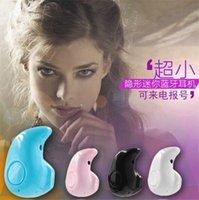 Wholesale Super Mini Invisible - Mini Bluetooth Earphone Stereo Light Mini Bluetooth Earphone Stereo Wireless Invisible Headphones S530 Super Headset Music answer phone 30pc