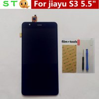 Wholesale S3 Display Screens - Wholesale-In Stock! 100% New Jiayu S3 LCD Display +Digitizer Touch Screen Glass for JIAYU S3 Black