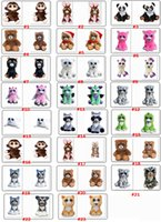 Wholesale pets stuffed animals - Christmas Gift Face Change Feisty Pets Animals Plush toys cartoon monkey unicorn Stuffed Animals