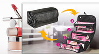 Wholesale N Handbags - Roll N GO Cosmetic Makeup Bag Women Fashion Handbag Toiletries Hanging Organizer Travel