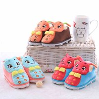 Wholesale Boys House Shoes Slippers - Wholesale-Cartoon slippers lovers home slipers winter home shoes for boys and girls house shoes home lovely slippers