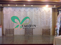 Wholesale Cheap Wedding Curtains - Cheap Price Wavy White Wedding Curtain \ Backdrops Good Looking