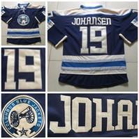 Wholesale Cheap Team Jackets - Columbus Blue Jackets 19 Ryan Johansen Jersey Mens Team Color Navy Blue Ryan Johansen Ice Hockey Jerseys Cheap Fashion Stitched