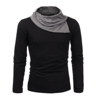 Wholesale Hoodie Pile - New Design 2015 Top Fashion Autumn Mens Slim Fit Pullover Knit Sweatshirt Male Casual Long Sleeve Pile Collar Hoodies