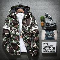 Wholesale Casual Cargo Jacket - 2017 Men Casual Bomber Jackets Autumn Summer Pilot Jackets Cargo Coat Man Camouflage Jacket Thin Hooded 3m Reflective Top