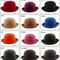 Wholesale Christmas Style Hat For Women - wholesale 2015 Any color for Feshion Felt Lady Dome Edge roll Jazz Hat Cap Fall&Winter England Style