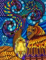 Wholesale Cute Owl Paintings - New diy diamond painting cross stitch kits resin pasted painting full round drill needlework Mosaic Home Decor animal cute owl yx1240