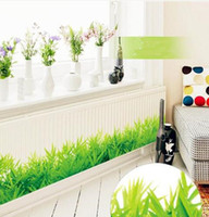 3d Fresh Grass Green Grassboard Pvc Pegatinas de Pared Bordeando Niños Sala de estar Dormitorio Baño Cocina Nursery Balcony Home Decor