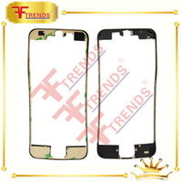 Wholesale Black Sticker Screen For Iphone - 500pcs Front Bezel with 3M Sticker Glue Middle Frame for iPhone 5 5C 5S Black white Mid Frame Chassis Bezel Touch Screen LCD