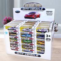 Wholesale 87 Toy - 1:87 Mini Machines Alloy Car Model cartoon Sports Car Metal Taxi Model Toys for Boy Birthday Christmas Gift C3139