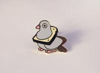 ingrosso il metallo mangia-Pigeon all'ingrosso dello smalto duro che mangia il perno del pane Metallo di doratura di doratura