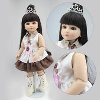 Wholesale Ball Jointed - Wholesale- NPK COLLECTION BJD Series Doll Reborn Babies Girl Full Vinyl Ball Jointed Dolls Real Handmade Realistic Baby Long Hair Princess