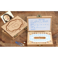 Wholesale Woods Toys China - Wooden Storage Box Children deciduous Memorial Case organizer Special Kids Gift Toys