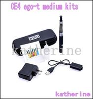 Wholesale Ce4 Ego Wholesale Uk - eGo CE4 medium start kit E Cigarette CE4 clearomizer ego t Battery 650mah 900mah 1100mah with Medium case wall plug UK US EU AU version