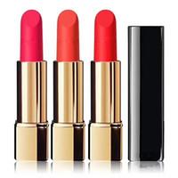 Wholesale pressing aluminum - new makeup top quality A++++ 4 colors rouge velvet luminous matte lipstick highest quality Press the aluminum tube lipstick 3.5g