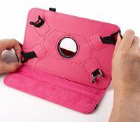evrensel tablet toptan satış-Evrensel 360 Dönen Ayarlanabilir Kapak PU Deri Kılıf Kapak Standı 7 inç Tablet PC MID iPad Mini 1 2 3 A13 Q88 Samsung Tab 4 Lite T110