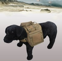 Wholesale Military Dog Clothing - Army Dog Tactical Vests Outdoor Military Dog Clothes Load Bearing Harness SWAT Tactical Dog Training Molle Vest Harness XL1155